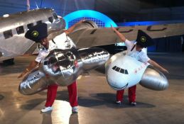 Inflatable plane costumes<br/>Air Canada 75th anniversary