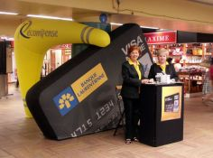 Inflatable kiosk<br/>Laurentian Bank