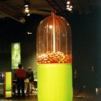 Inflatable pill<br/> Science museum exihibition element