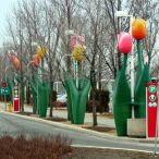 Inflatable tulips<br/>Special event outdoor decorations
