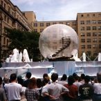 Clear inflatable sphere<br/>parade float