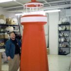 Inflatable lighthouse<br/>adjustable height