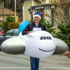 Inflatable plane costume<br/>Christmas parade