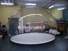 Clear inflatable bubble